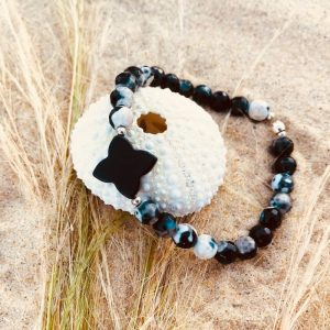 Bracelet Agate trèfle pierre semi précieuse