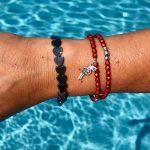 bracelet-rouge-mat-facettes-bohème