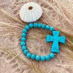 Bracelet femme Howlite turquoise