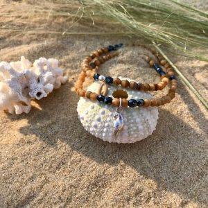 bracelet femme verre de bohème et argent