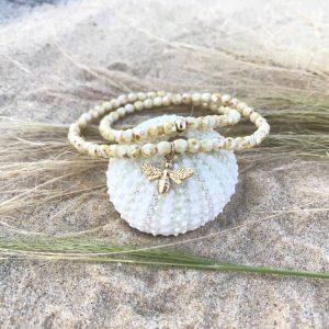 Bracelet Tess verre de Bohème plaqué or