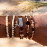 bracelets femme cristal de bohème agate gold filled