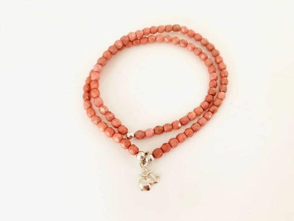 Bracelet 2 tours femme verre de Bohème