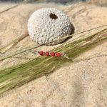 bracelet femme Céline argent facette de bohème rouge