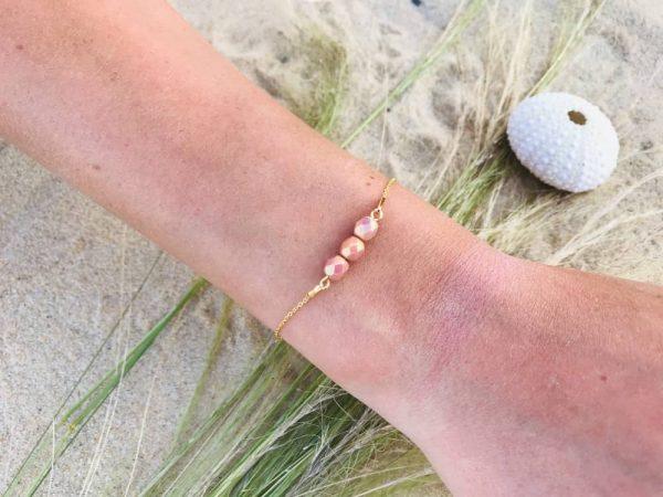 Bracelet gold-filled cristal de Bohème
