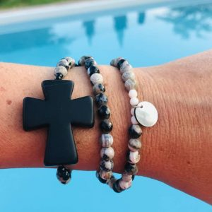 Collier Bracelet femme opale croix howilte