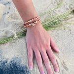 Bracelet femme KATY gold filled nacre cristal de bohème